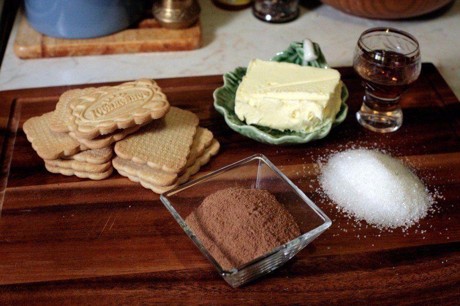 Ингредиенты для приготовления пирожного картошка