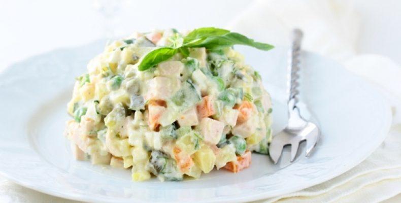 рецепт салата оливье на большое количество