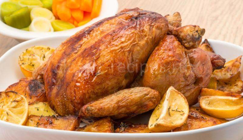 курица, запеченная с картошкой